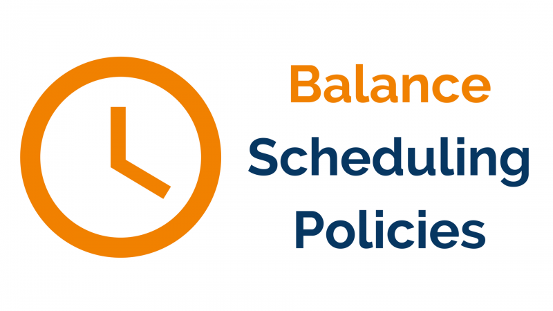 website scheduling policies page image